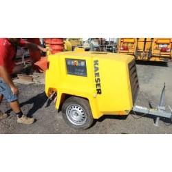 Compresseur d'air - moteur diesel débit : 2600 L/m - pression 7 bars